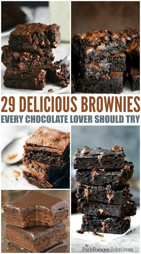 29 Chocolate Lovers Brownies Recipes you will love! Easy homemade from scratch recipes and boxed recipes! Including espresso brownies, black bean brownies, caramel brownies and more