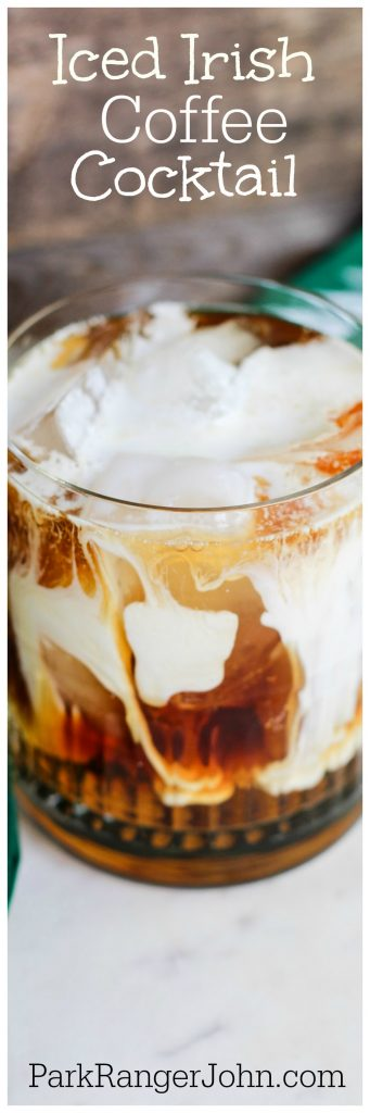 How to make an Iced Irish Coffee Cocktail Recipe! at home. Perfect for St. Patricks Day parties.